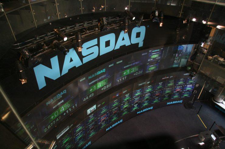 NASDAQ stock market display