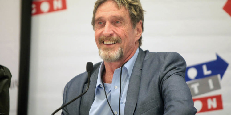 McAfee announces Bitcoin $1m value date 1