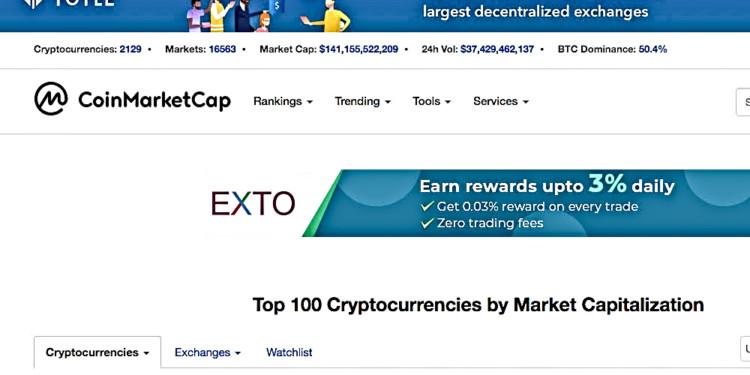 CoinMarketCap confirms Bitcoin trading data validity may be unreal 1