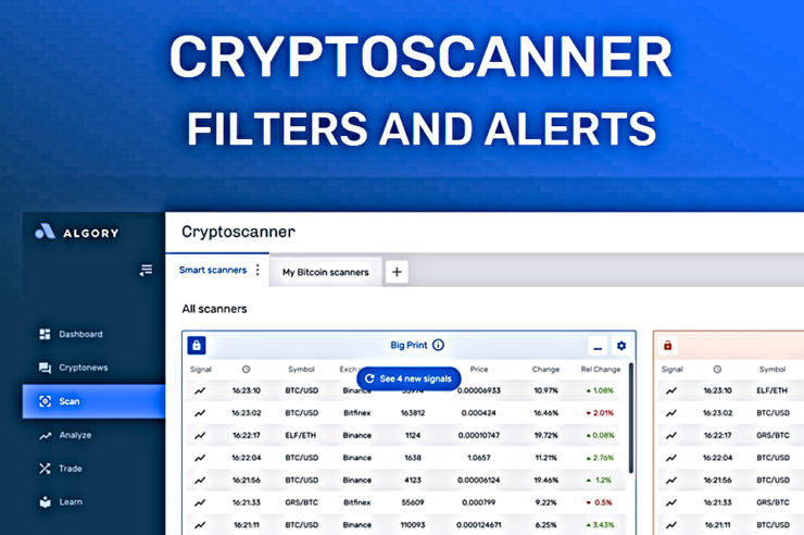 Algory: The first real-time cryptocurrency scanner is released 1