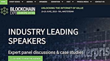 Blockchain Expo Speaker announcement at RAI Amsterdam 2