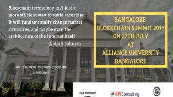 Bangalore Blockchain Summit 2019 2