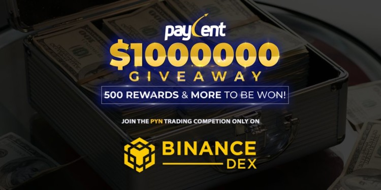 Paycent trading contest on Binance DEX promises $1 million in prizes