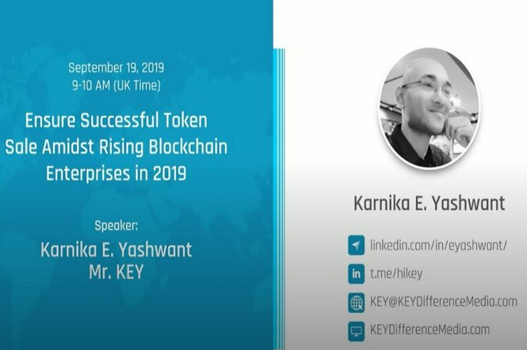 Successful token sale in competition with blockchain enterprises