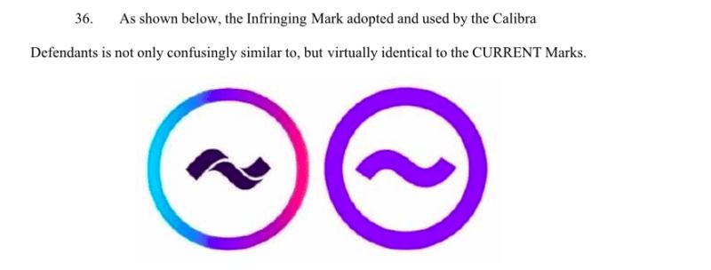 Facebook logo copyright infringement case on Calibra
