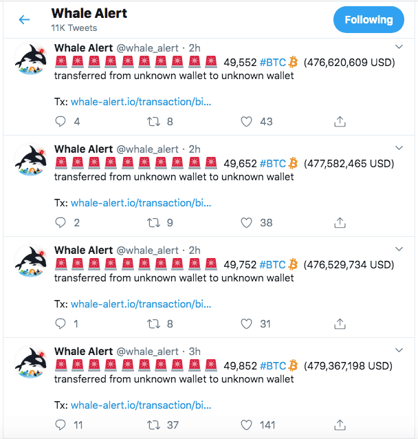Bitcoin Whales on the move