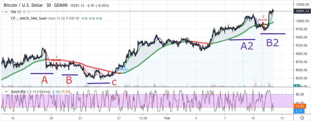 Bitcoin price chart 2 - 11 Feb