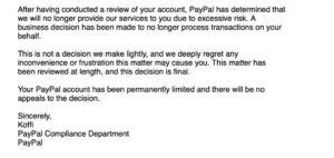 Tokenized real estate PayPal ban