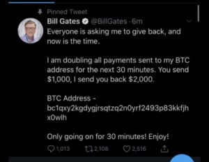 Tech giants Twitter accounts compromised to run crypto scam 1